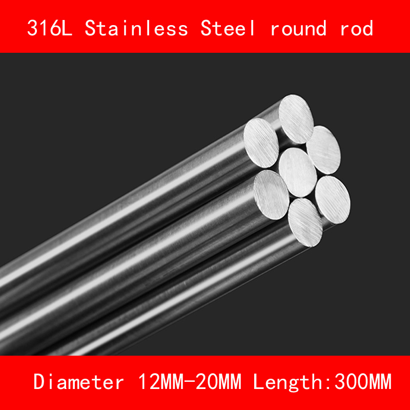316L Stainless steel round bar Diameter 12mm 15mm 20mm Length 300mm metal rod 316l stainless steel wire soft diameter 1 5mm length 5 meter