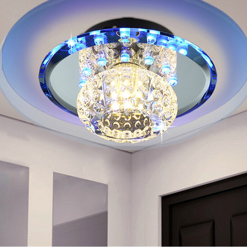 ФОТО 3-5W Modern LED Crystal Ceiling Light Home lighting Four Gear Intelligent Control Perfect for home ceiling led lights fixtures