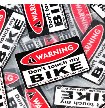 High quality For JDM warning do not touch my bike in Japan Reflective Car sticker and decals modified accessories ...