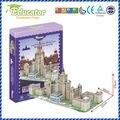 Новая модель 3D обучающая головоломка модель здания Lomonosov МГУ России DIY игра