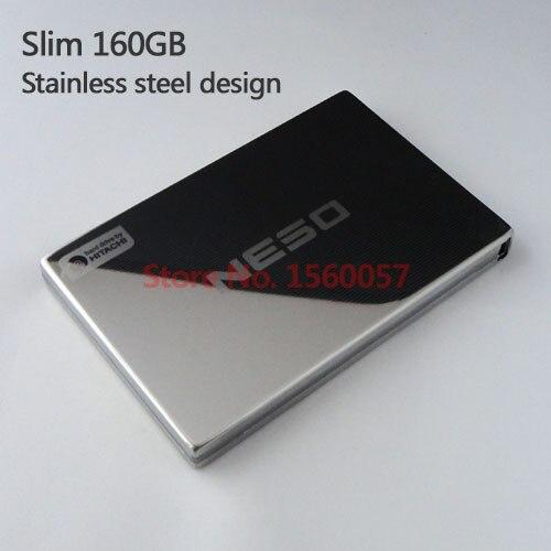 Бесплатная доставка тонкий мобильный жесткий диск внешний жесткий диск 160 г оптовая продажа цена 2.5 '' портативный жесткий диск USB2.0 из нержавеющей стали дизайн