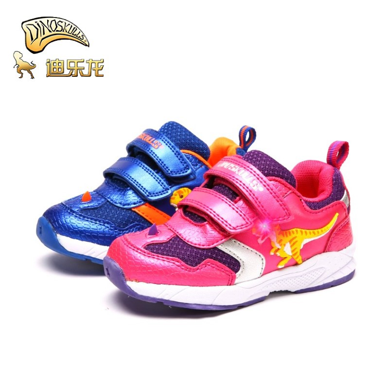 DINOSKULLS Baby Casual Shoes Infant Boy Girl Fastening Dinosaur Shining Glowing Breathable LED Kids Toddler Sport Shoes SneakersDINOSKULLS Baby Casual Shoes Infant Boy Girl Fastening Dinosaur Shining Glowing Breathable LED Kids Toddler Sport Shoes Sneakers