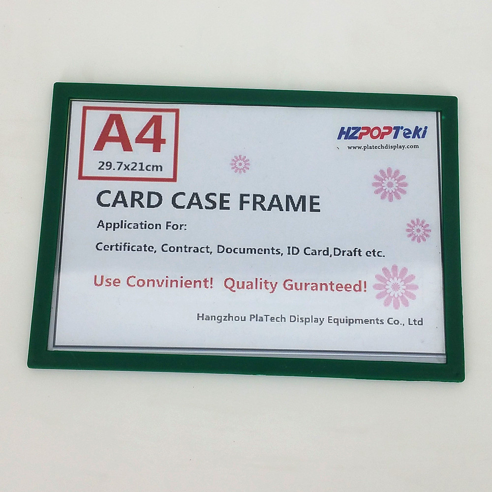 A4 Sticked By Magnetic Plastic Pop Paper Sign Card Label Display Show Case Frame On Retail Store Shelf Promotion 400pcs