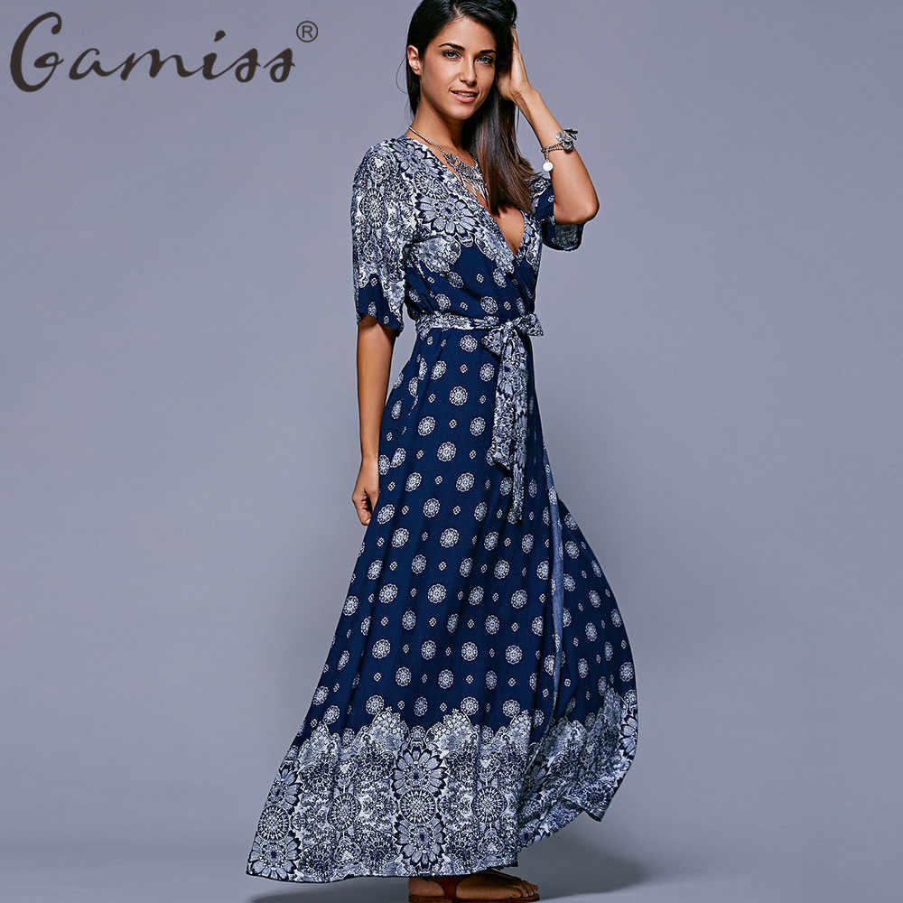 ... Floral Maxi Dress Women Summer Casual Boho A-Line Bandeau Long Vestidos  Plus Size 5xl. US  13.99. 5.0 (2). 7 Orders. Gamiss Woman Bohemian Dresses  Sexy ... 253a0101ca37