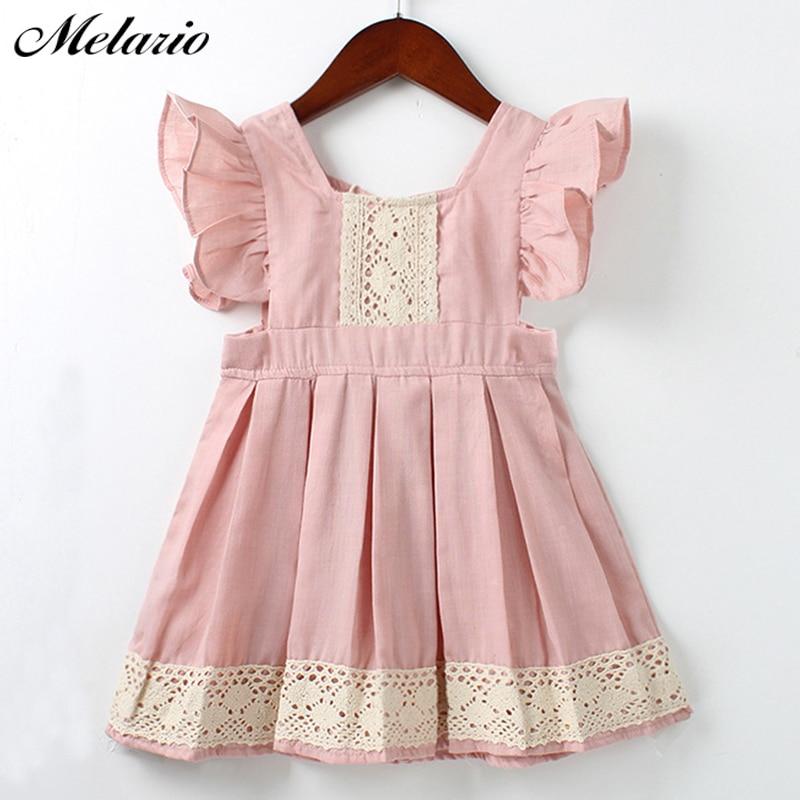 Melario Girls vestido 2018 moda partido niños ropa costura niños ...