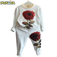 Menoea-2016-Autumn-Fashion-Style-Girls-Clothing-Sets-Sports-wear-Long-Sleeve-Roses-Floral-Embroidered-Sequin