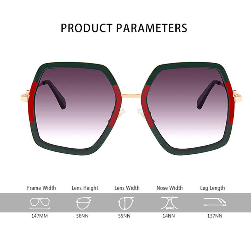 a6ea9649f61 ... ROYAL GIRL Oversized Laidies Square Sunglasses Women 2018 Luxury Brand  Designer Big Frame Mirror Sun Glasses ...