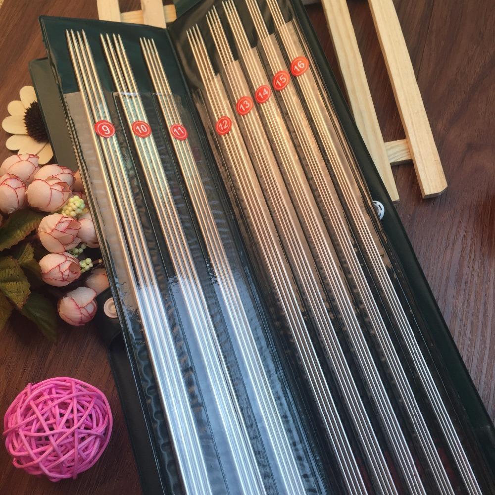 Envío libre 11 tamaño/set Acero inoxidable agujas de tejer recto ...
