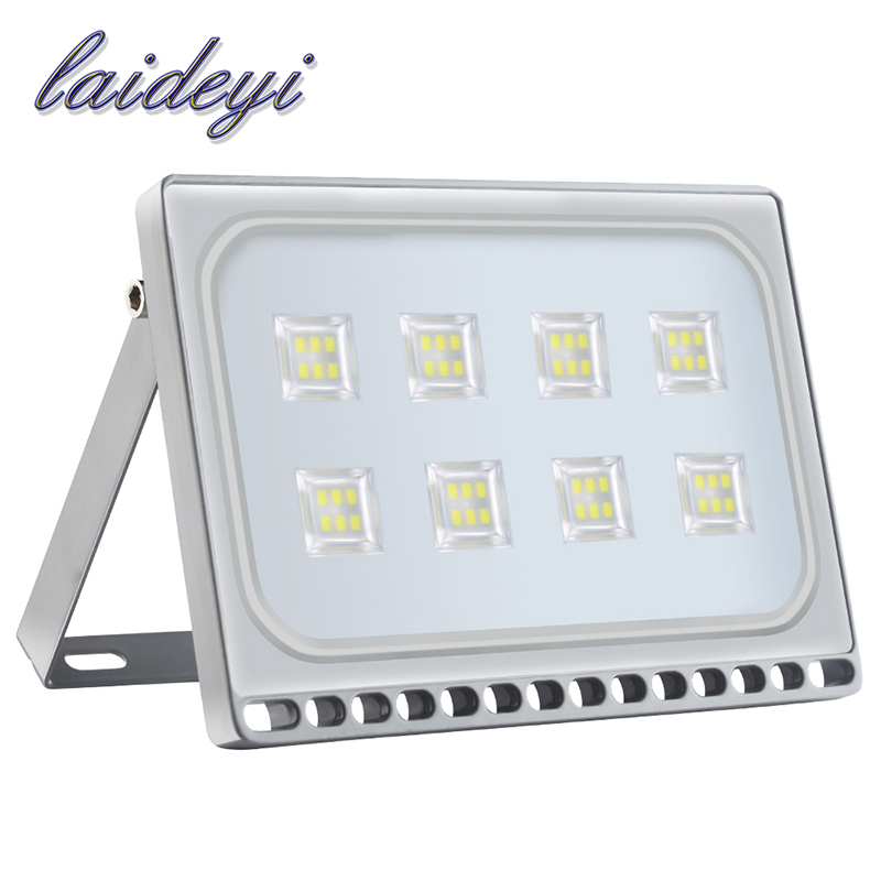 10Pcs LED Flood Lights 50W 220V Floodlights LED Spotlights Outdoor Lighting Led Reflector Wall Lamps for Street Garden Square