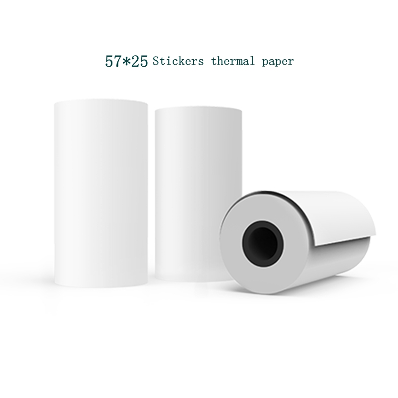 MEMOBIRD G3 Sticker printing paper 57 * 25 Thermal Label Printing Paper Photo paper Can paste 3 volumes-WhiteMEMOBIRD G3 Sticker printing paper 57 * 25 Thermal Label Printing Paper Photo paper Can paste 3 volumes-White
