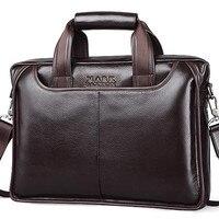 MARK SAXTON Guarantee Natural Genuine Leather Bag Handbag Famous Brand Designer Soft Cowskin Casual Business Men
