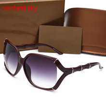 2017 New Fashion Accessories Women Uv400 Retro Style Sunglasses Women Brand Designer  Elegant Big Frame Sun Glasses For Women