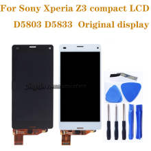 "4.6"" Original display For Sony Xperia Z3 compact LCD touch screen digitizer replacement for Z3 mini D5803 LCD Screen component tempered glass 100% tested oem for sony xperia z3 mini lcd z3 compact lcd display touch screen digitizer assembly b"