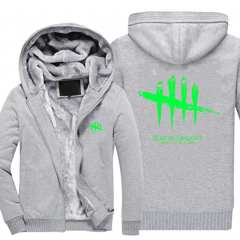 New Mens Sweatshirt Game Dead by Daylight Luminous Logo Thick Hoodies Printing Pattern Z ...