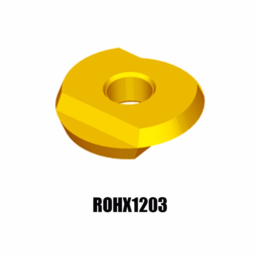 10PCS/LOT ROHX1203 YBG252 ZCC.CT Cemented Carbide FACE Milling inserts  milling tools rdkw 10t3mo ybg202 10pcs lot zcc ct diamond brand cemented carbide cnc cutting tools inserts