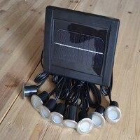 8 ראשי אור שמש נירוסטה תחתית 16 LED בריק סיפון מנורת ספוט תאורת מסלול גן אור שמש רצפה קבור