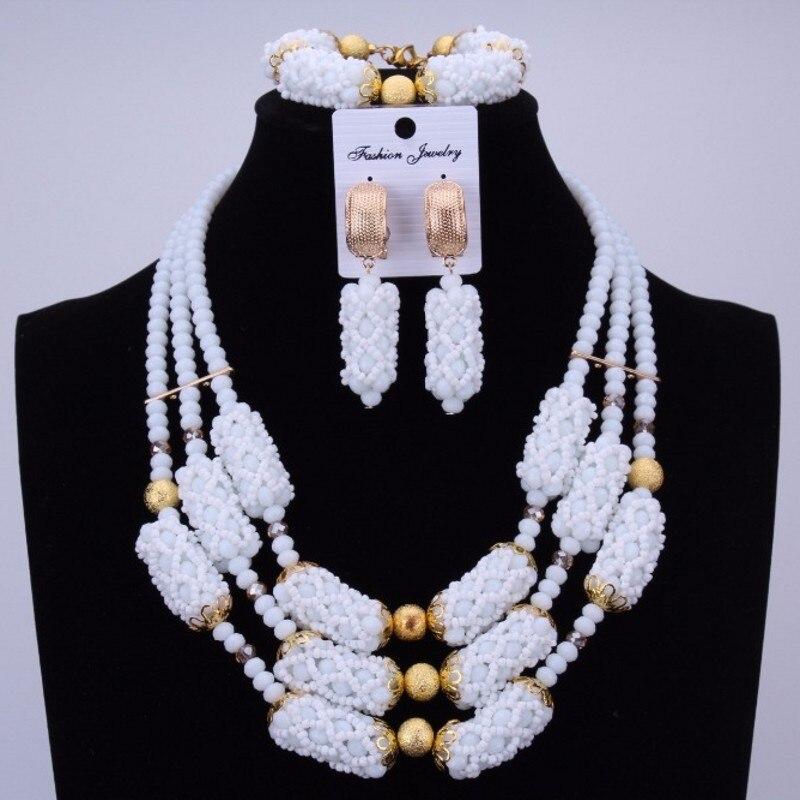 Dudo Orange incroyable perles africaines bijoux ensembles cristal collier ensemble mariage nigérian mariée 3 Pics ensembles livraison gratuite 2018 or - 5