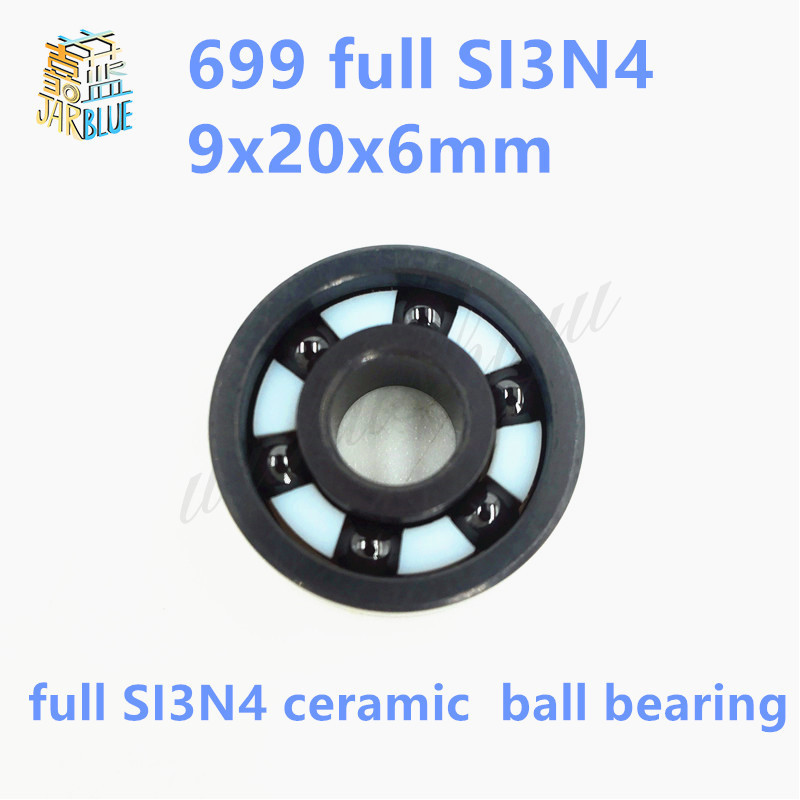Free shipping 699 full SI3N4 ceramic deep groove ball bearing 9x20x6mm for bike part free shipping 699 2rs 699 hybrid ceramic deep groove ball bearing 9x20x6mm for bicycle part hubs
