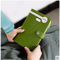 new felt fabric Cover spiral notebook office personal diary/week planner/agenda organizer Cute ring stationery binder A6