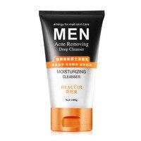 Acne Remoção de Homens Matagal Limpeza Acne Controle de Óleo de Cuidados Da Pele Limpeza Profunda Cravo Face Care Esfoliante de Limpeza Cravos