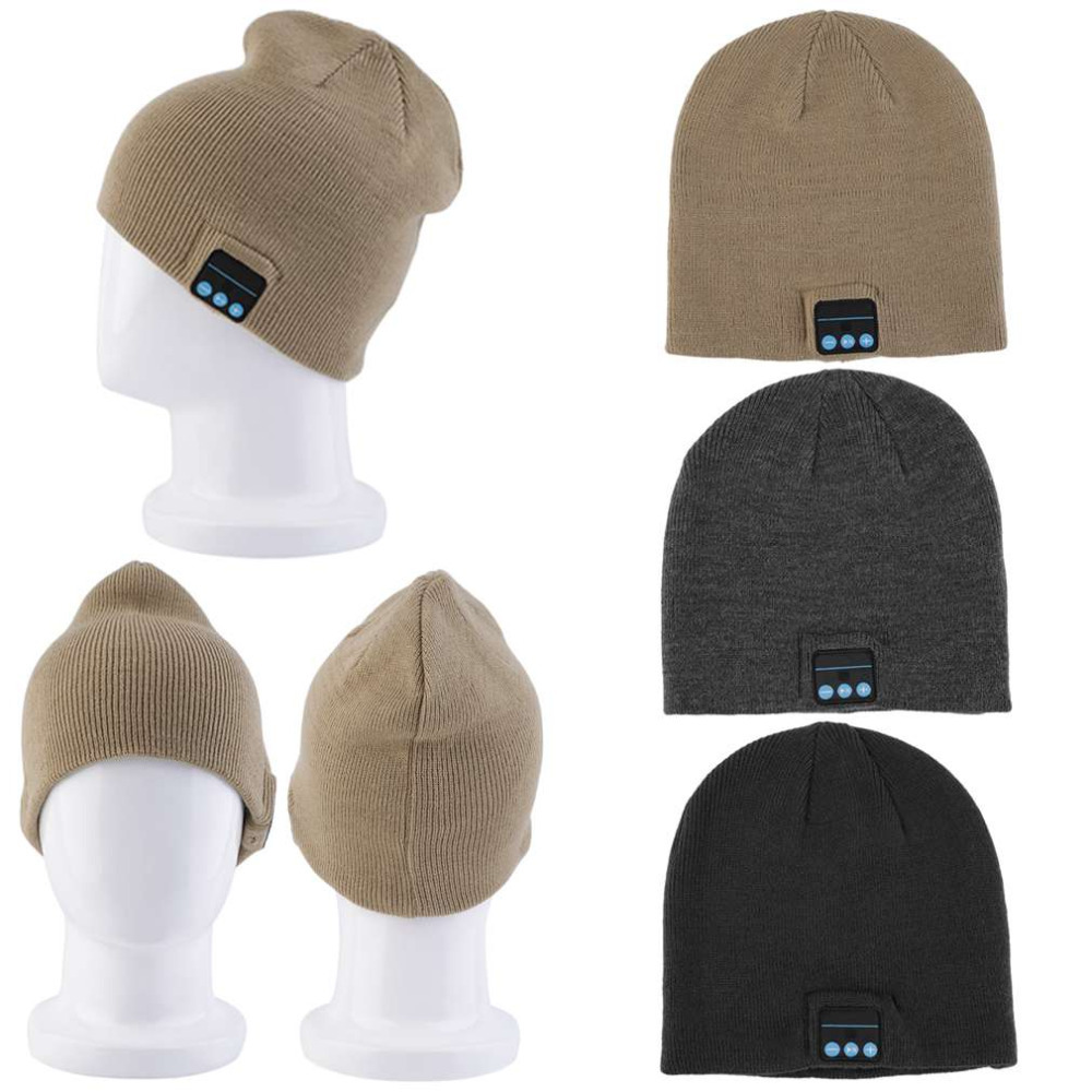Winter Warm Beanie Hat Wireless Smart Bluetooth Hat Receiver Audio Music Cap Headphone Headset Speaker Mic Cool Knitted Cap practical outdoor sports bluetooth headphones speaker mic winter warm knitted beanie hat