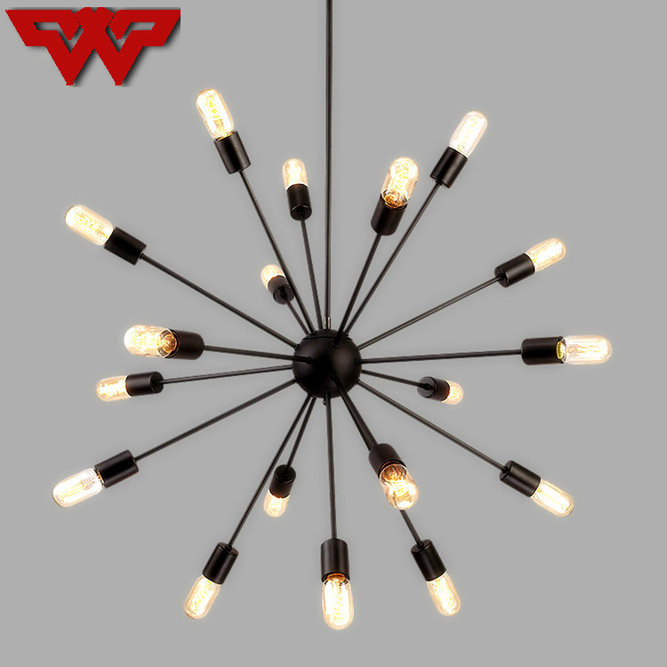 Nordic satellite lights creative Nordic iron lamp personality study lamp modern minimalist bedroom lights living room lamp nordic post modern bed living room led pendant lights creative personality wood minimalist dining room study decor lamp fixtures
