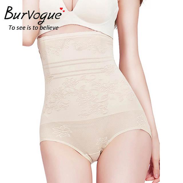 e87113a313f4e Burvogue Women High Waist Butt Shapers Tummy Control Girdles Body Shaper  Panties Underwear Butt Lifter Waist