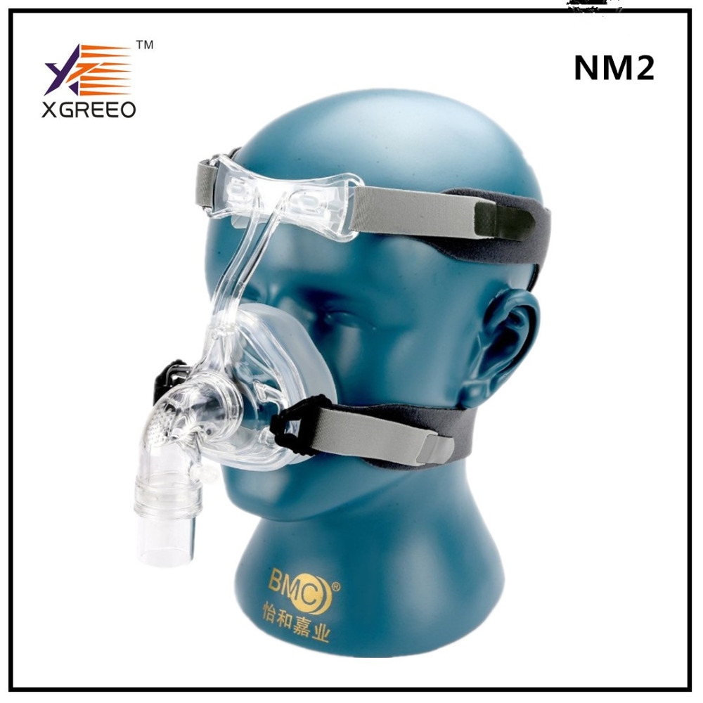 BMC XGREEO CPAP Machine And Oxygenerator Nasal Mask NM2 With Headgear And Head pad S/M/L Different Size Suitable new cpap headgear replacement fit for respironics comfort gel nasal mask head band