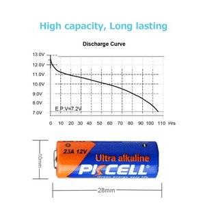 Image 4 - 4Pack/20Pcs PKCELL Batteria 12V 23A 12V Battery Alkaline Batteries MN21 A23 12V Baterias For Doorbell Sex toy Alarm