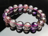 Free shipping 435 Natural Super Seven 7 Hair Rutile Beads Melody Stone Beads Bracelet AAAA