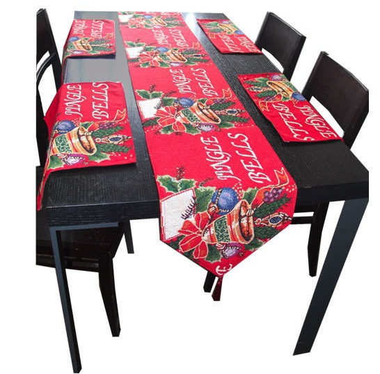 New Year Christmas Table Runner Christmas Tablecloth Decoration Home Textiles