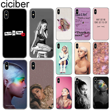 ciciber Ariana Grande Phone Cases for Iphone 7 8 6 6S Plus 5S SE Soft TPU Shell for Iphone 11 Pro XR XS MAX X Cover Funda Coque ciciber for iphone 7 8 6 6s plus 5s se x xr xs max soft silicone tpu cover for iphone 11 pro max phone case ariana grande coque