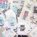 23 pcs Colorido Bolso Cartões de Papel para Scrapbooking Álbum DIY Projetos de Artesanato Journaling