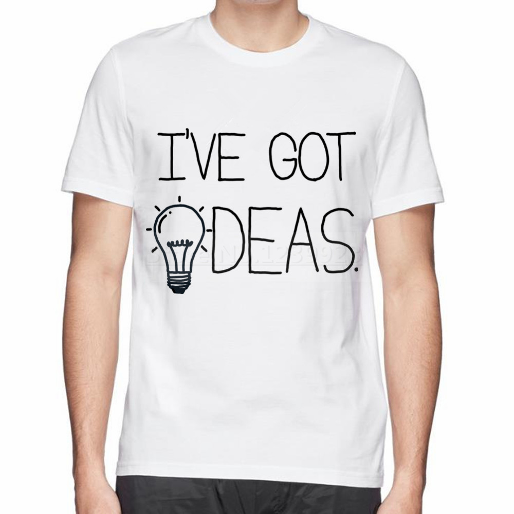 White T Shirt Design Ideas 25 awesome t shirt designs Summer Man Cotton T Shirt New Thinking Beautiful Design Ive Got Ideas Personalized Bulb
