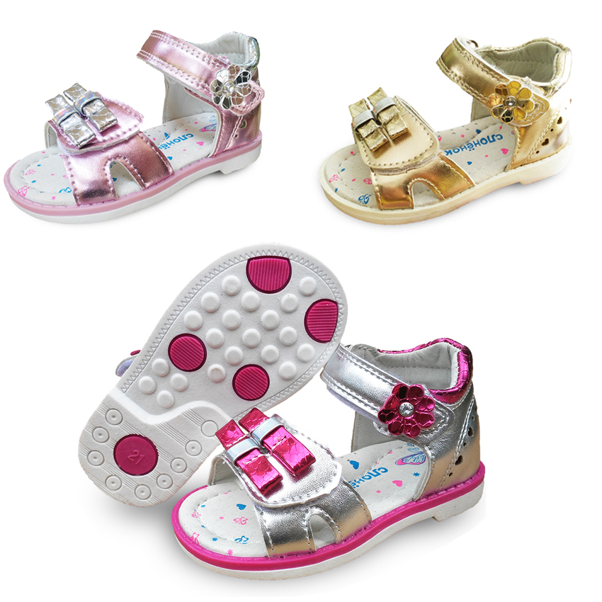 New 1pair Summer Baby Arch Support Orthopedic Sandals Girl Shoes,Super Quality Kids/Children Soft Shoes