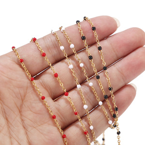 Image 2 - Wholesale 1 Roll/10Meters 2mm Width Stainless Steel Gold Plated Satellite Cable Beaded Ball Chain for Women Girl Necklace Making
