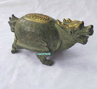 Figures & Statues Chinese Old Handmade Bronze Dragon turtle Sculpture,Antique Art Collection Craft For Home Feng Shui decoration