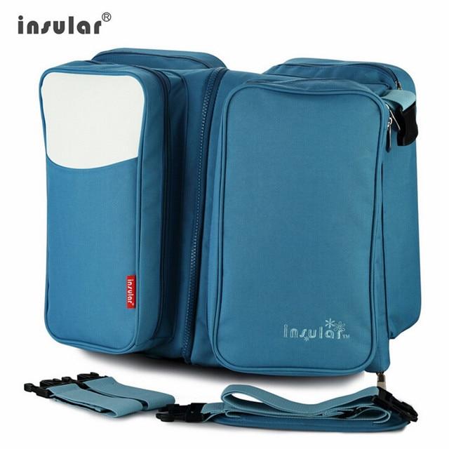 Baby dispaer mummy nursing bag  Messenger stroller Changing Bag 2 in 1 Travelling s Fold  Movement Baby Bed free shipping