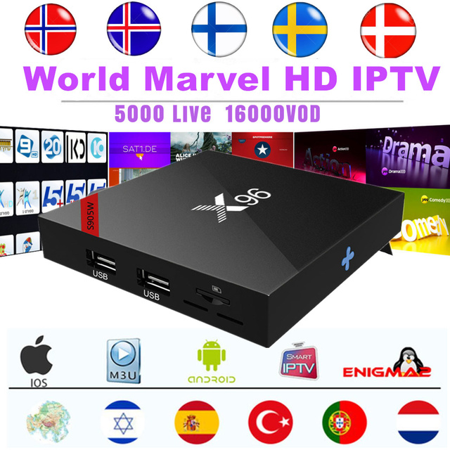 US $29 0 |Marvel HD World IPTV Subscription 5200 Live+10000VOD for Nordic  Dutch Poland Turkish Portugal Israel Arabic Europe Android M3u-in Set-top