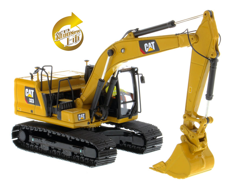DM 1:50 Caterpillar Cat 323 Hydraulic Excavator Vehicle Engineering Machinery 85571 Diecast Model For Collection,Decoration