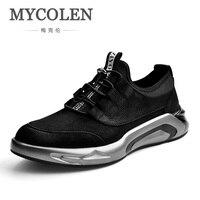 Mycolen Новинка весны/осень мода Стиль Мужская обувь удобные Кружево до Мужская обувь Элитный бренд Спортивная обувь мужская обувь Повседневн