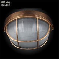 Bronze kitchen Ceiling lamp vintage E27 socket out door gas station Explosion proof ceiling lighting industrial outdoor lamps