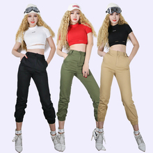 2019 discoteca Dj Ds Gogo etapa ropa para los cantantes adultos hip-hop  Pantalones de mujer bailarina de Jazz traje Rave desgast. 8c3cf90c2e5