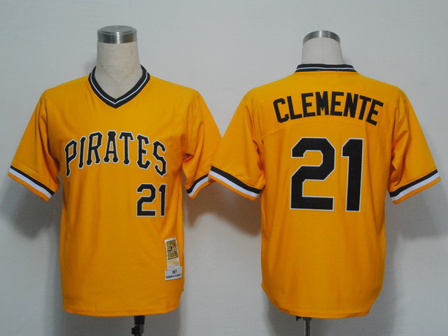 best sneakers b315b f5bd0 pittsburgh pirates 21 roberto clemente 1971 yellow throwback ...