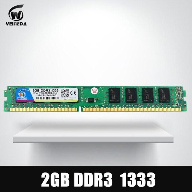 Оперативной памяти DDR3 2 ГБ 1600 PC3-12800 Совместимость с ddr 3 1066 1333 мГц для всех Intel AMD рабочего