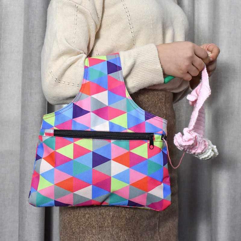 2019 New DIY Printing Weaving Tool Storage Bag Crochet Storage Bag Sewing Supplies Handbag