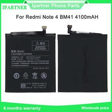 For Xiaomi Redmi Note 4 Battery Note 4X Pro MTK Helio X20 4GB RAM For Redmi Note 4X Lithium Polymer Batteries 4100mAh(China)