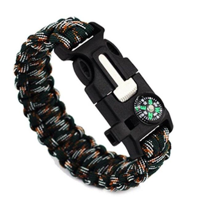 Handmade Woven Paracord Men Bracelet Multi-function Survival Rope Bracelet Outdoor Camping Rescue Emergency Bracelets For Women