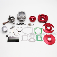44MM BIG BORE TOP END KIT FOR ATV POCKET BIKE DIRT BIKE 47CC 49CC 2 STROKE STAGE 3 RED NEW
