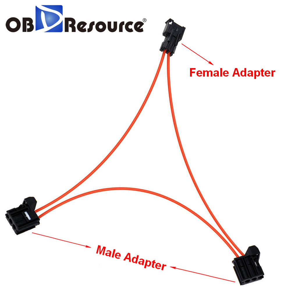 Fit for BENZ PORSCHE BMW MOST fiber optic loop bypass MALE /& FEMALE kit adapter